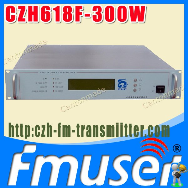 CZH618F 300W fm radio broadcast transmitter PLL stereo transmitter small fm radio staion equipment 87-108MHz(China (Mainland))