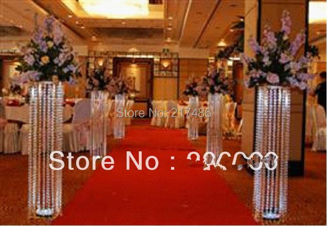 Wedding Crystal Pillars Centerpiececs For Wedding Stage Decoration
