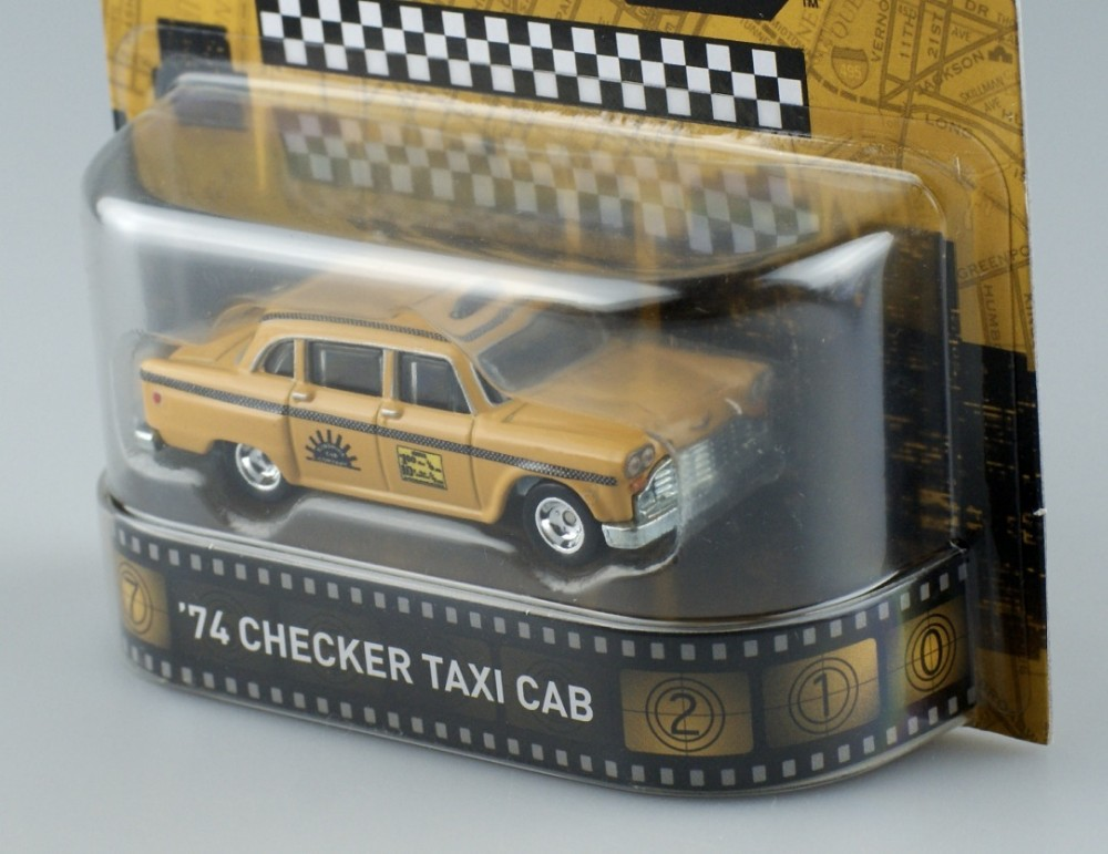 HotWheels Die-casts Retro Leisure Taxi '74 CHECKER TAXI CAB