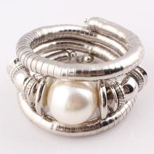 2016 New Hot Jewelry Turquoise Beads Charms Snake Bracelet for Women Imitation Pearl Adjustable Bracelet Bangle Female B326(China (Mainland))