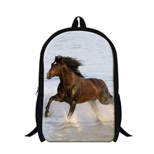 Buy Personalized animal horse backpacks children,teenager boys cool school bookbag,fashion lightweight back pack girls bagpack for $19.97 in AliExpress store