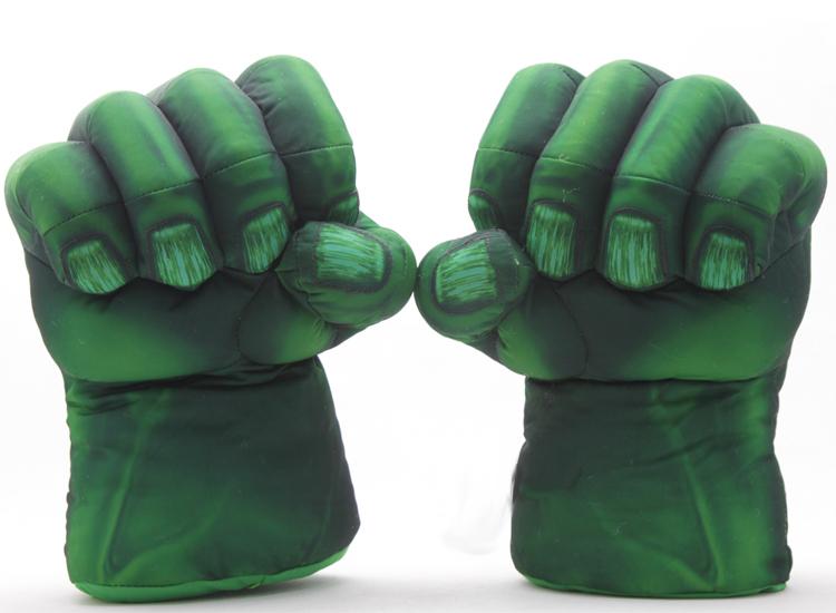 Spider man Green Giant The Hulk Plush Gloves Gags & Practical Jokes Novelty & Gag Toys(China (Mainland))