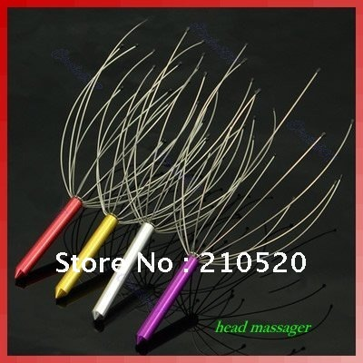 W11010pcs/lot Neck Scalp Massage ,Head Massager Equipment ,Stress Relax ,stainless steel handle /manual health care(China (Mainland))