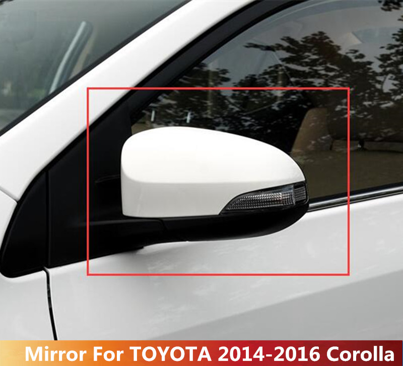 Right Side Silver Power Heated Turn Rearview Mirror For Toyota Corolla 2014-2016