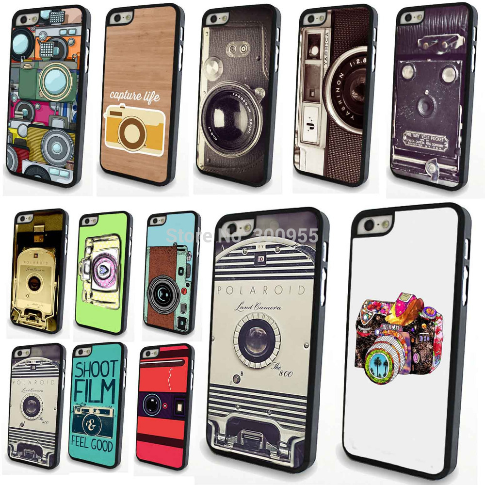 Phone case cover iPhone 4 4s Fashion Styles Camera Painted Patterns Design Hard PC Cell Back Case Cover - poplar1115 store