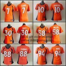 100% stitched women Denver Broncos ladies 94 DeMarcus Ware 7 John Elway 58 Von Miller 88 Demaryius Thomas 30 Anthony Davis(China (Mainland))
