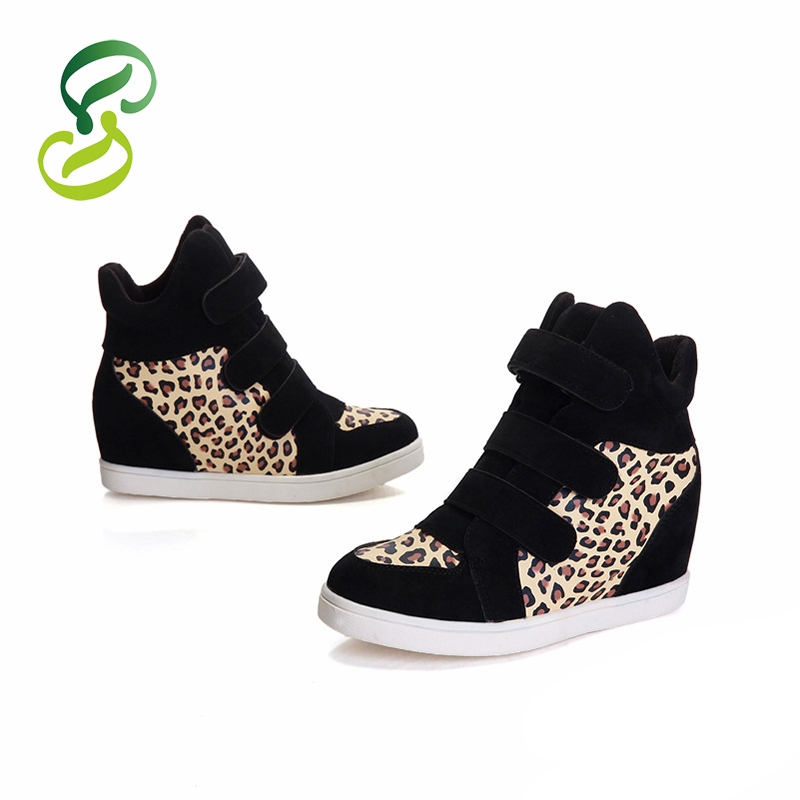 2015 Spring Autumn Women Fashion Flats White Ankle boots leopard women Shoes Casual shoes Women(China (Mainland))