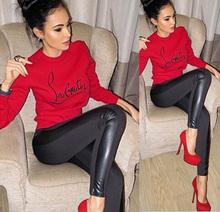 Elina's New 2015 women harajuku red crewneck pullover sudaderas mujer jogging hoodies for women Sweatshirts femme s m l(China (Mainland))