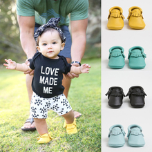 baby leather moccasins / baby boys girls Genuine Leather shoes first walker moccs /zapatos bebe / chaussure bebe/sapato infantil(China (Mainland))