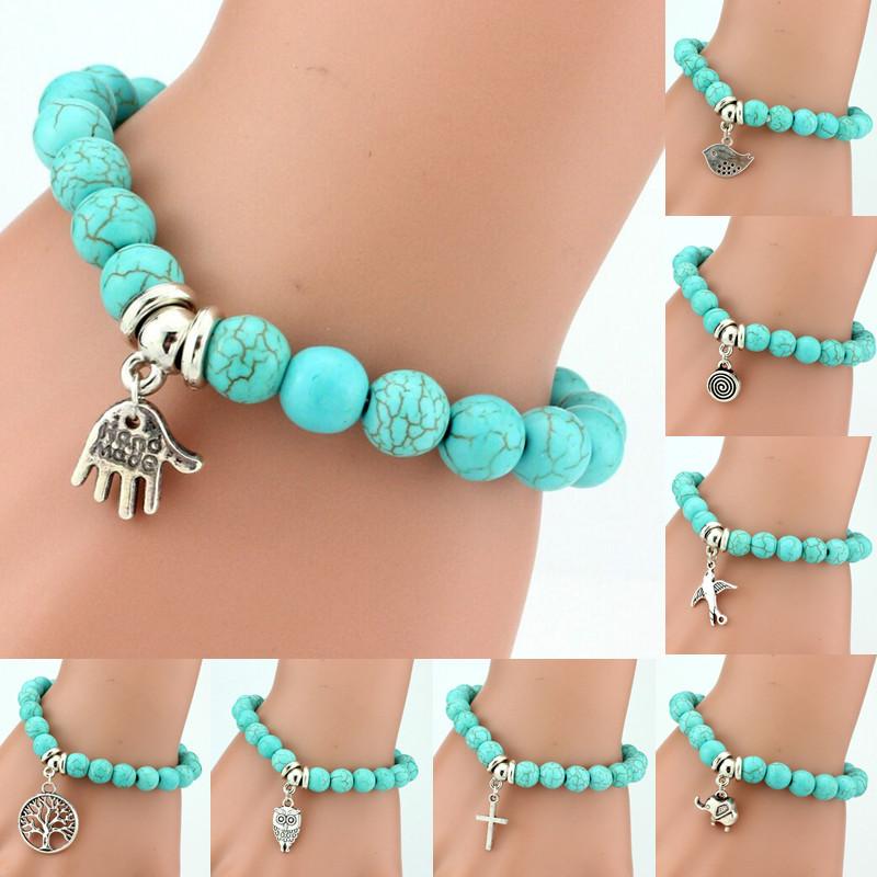 LNRRABC Hot 1 Pc Women Lady Girl New Fashion Popular 11 Styles Beads Cross Key Owl Elephant Bracelet(China (Mainland))