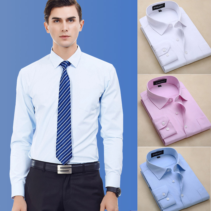 Special Offer Casual Striped Shirts Solid Cotton Men Long