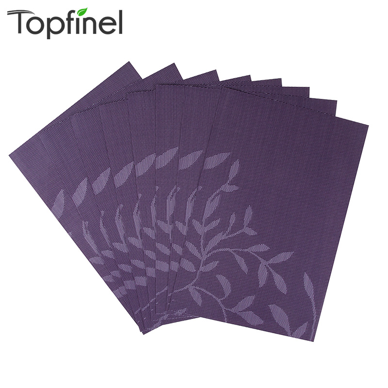 Top Finel Set of 8 PVC Flower Pattern Placemats for Dining Table Runner Linens Place Mat in Kitchen Accessories Cup Wine Mat(China (Mainland))