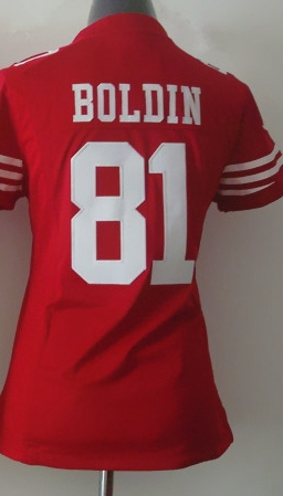 Cheap San Francisco 81 Anquan Boldin Women Jersey For 49er Anquan Boldin Game Jersey Ladies Football Stitched Jerseys Shirt(China (Mainland))