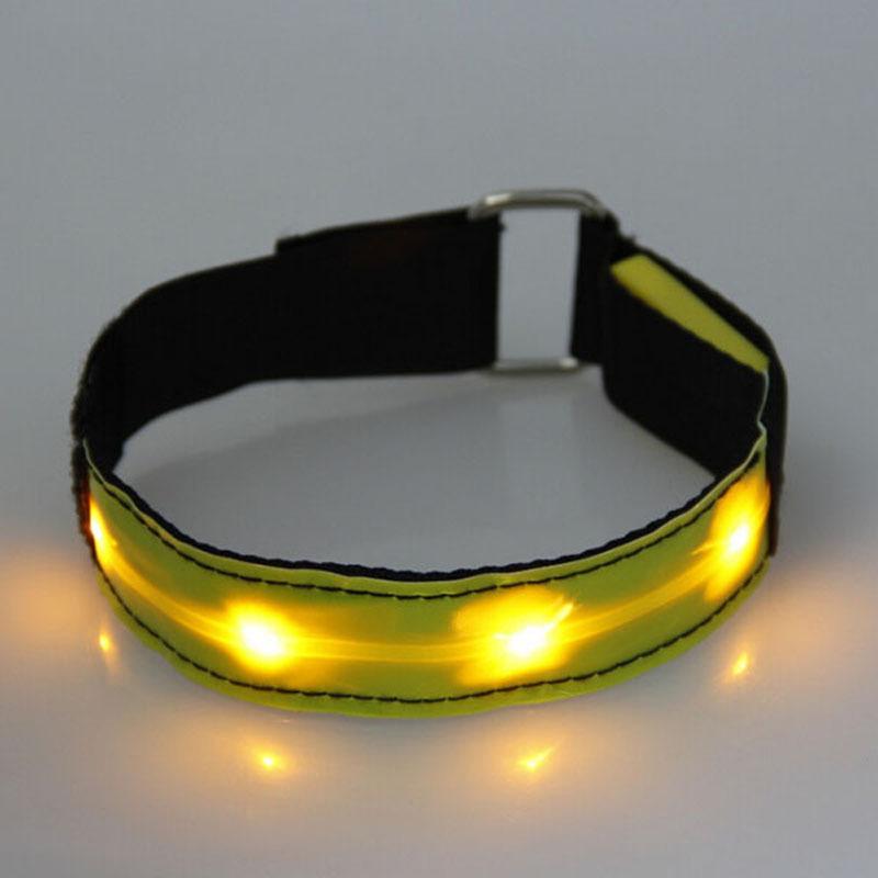 New Bicyle LED Flashing Armband Reflective LED Glow Armband Belt Visible Hiking Jogging Biking(China (Mainland))