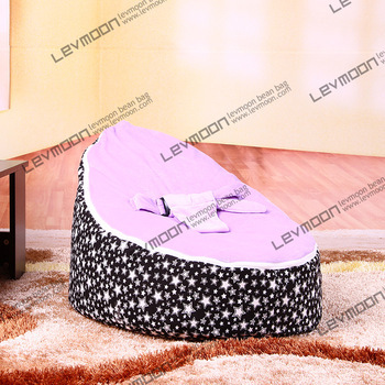 FREE SHIPPING baby bean bag cover with 2pcs purpleup cover baby bean bag seat cover baby bean bag chair kids sofa lazy chair()