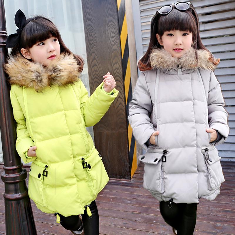 Модный пуховик для девочки