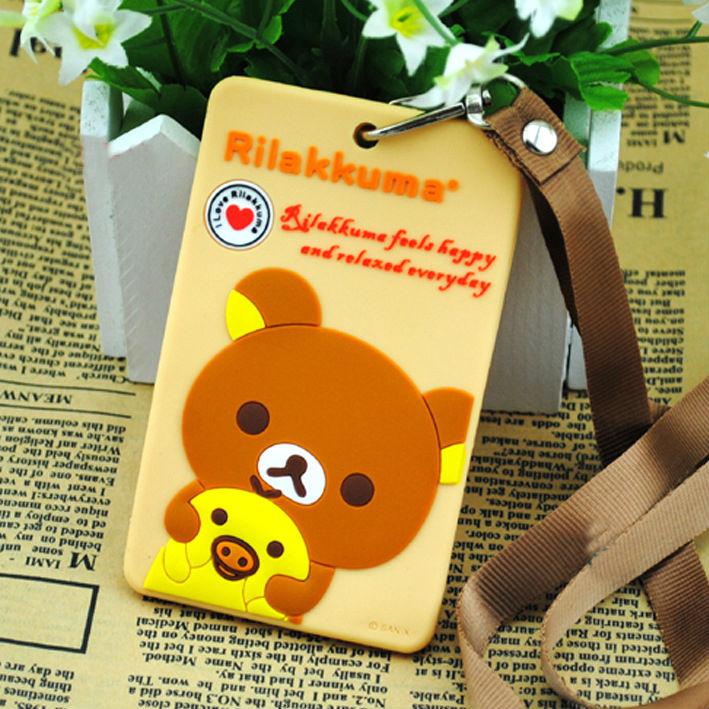 Anime/manga character Rilakkuma bear Silicone card holder/case/cover free shipping overseas! High quality!(China (Mainland))