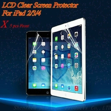 For apple ipad 2 3 4 High Quality New Ultra Clear Front LCD Screen Guard Protector Film For Apple iPad 2 3 4 100%Safe with 5Pcs