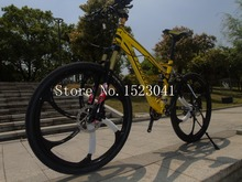 4 colors tires road bike Full suspension bicicleta mountain bike 26*17 inch 21/24/27/30 speed 26er Hydraulic Disc brakes(China (Mainland))