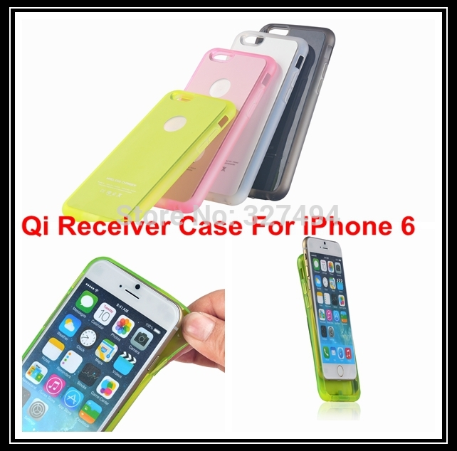 "Free Shipping 10pcs/lot Qi Wireless Charging Receiver Adapter TPU + PC Back Cover Charger Case for iPhone 6 6s 4.7""(China (Mainland))"