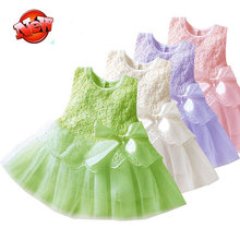 Toddler Vestidos Infantis Girl Lace Tutu Vest Dress Baby Kids Children Clothing Party Dresses Newborn Girls Clothes ,11 Colors(China (Mainland))