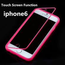 New Arrival Touch Screen Soft TPU Matte Flip Case for iphone 6 4.7 inch phone Cover for iphone6 good quality 8 colors hot sale