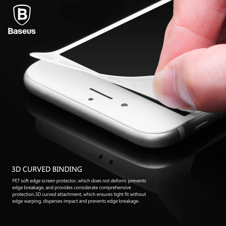 - HTB1yJPTNXXXXXX - Baseus 0.23MM Tempered Glass Film For iPhone 7 7 Plus 9H Hardness PET Soft 3D Curved Full Cover Anti-Blue Light Screen Protector
