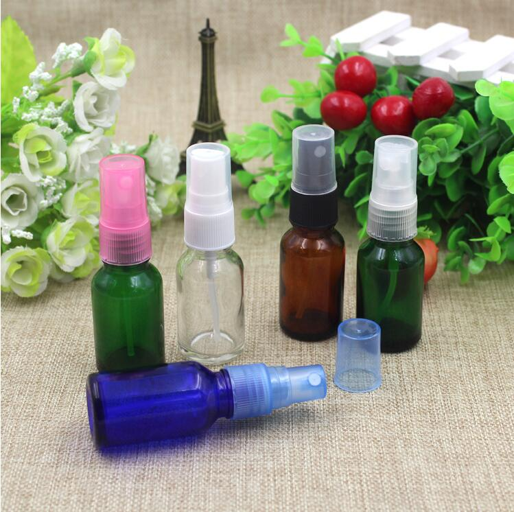 Small Oil Essential Astomiser Cosmetic Empty Bottles for Parfum Mist Sprayer Refillable Empty 15ML Glass Perfume Bottle(China (Mainland))