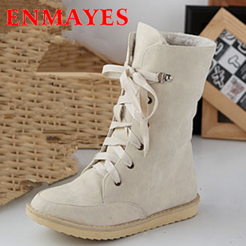 ENMAYER snow boots fashion female flat wedding sexy pu ladies motorcycle boots for women and womens autumn winter shoes Martin <br><br>Aliexpress