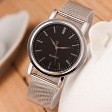 Nuevas mujeres de moda reloj de acero inoxidable Rhinestone de acero de plata completo diseño de la correa regalo elegante reloj de cuarzo Relogio horas reloj
