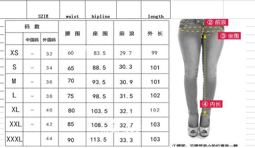 Скидки на Бесплатная доставка Новая Мода женщины джинсы женщина Голубые Твердые Новинка Тощий Полная длина рваные джинсы размер 32-44