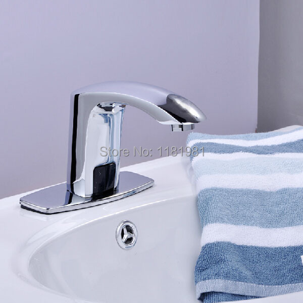 Sensor Faucets Torneira Automatic Hands Touch Free Bathroom Deck Mounted Brass Sink Chrome