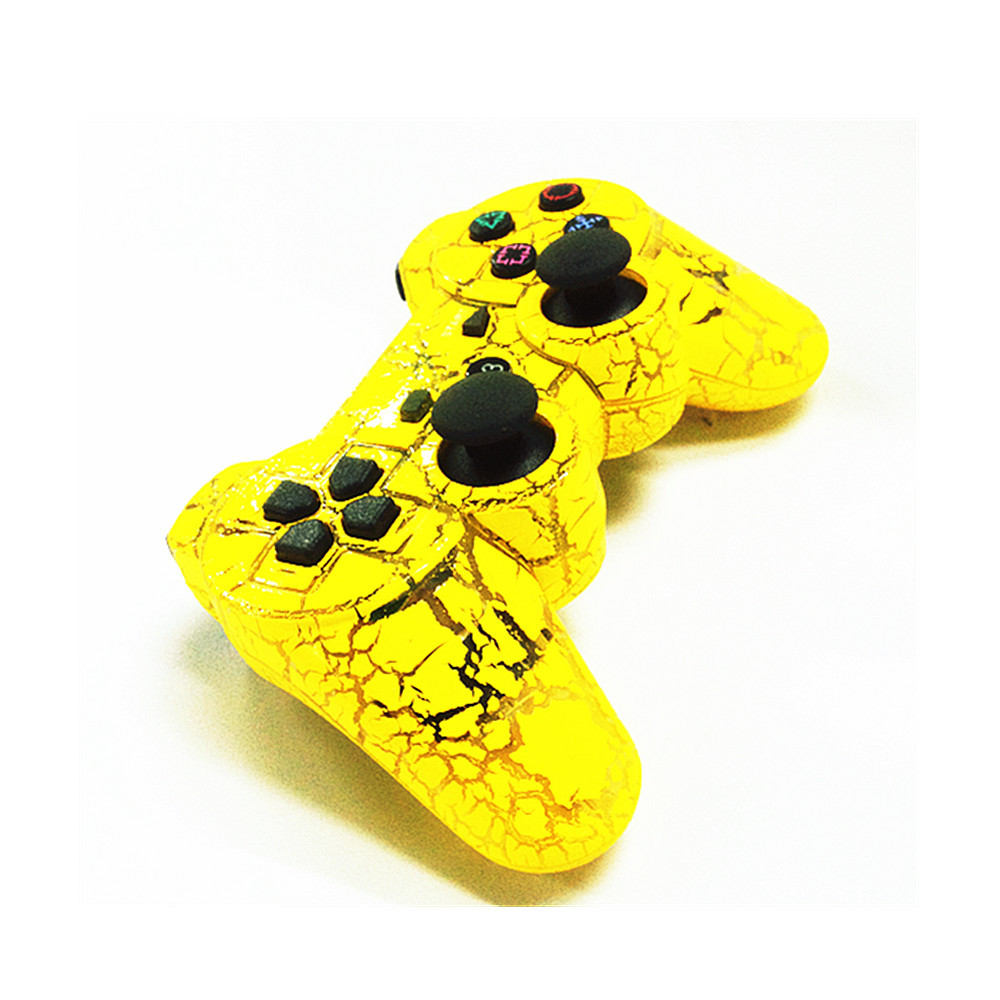 Yellow Crack Wireless Bluetooth Game Controller SIXAXIS Joysticks Gamepads Controller Compateble For Playstation 3 controller(China (Mainland))