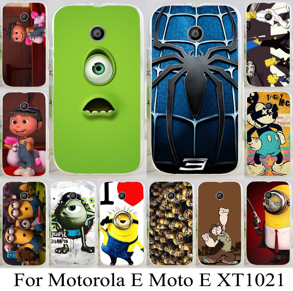 For Motorola E Moto E XT1021 XT1022 XT1025 cool hot style phone case cartoon pattern skin shell hood cellphone bag hot sale 1pc(China (Mainland))
