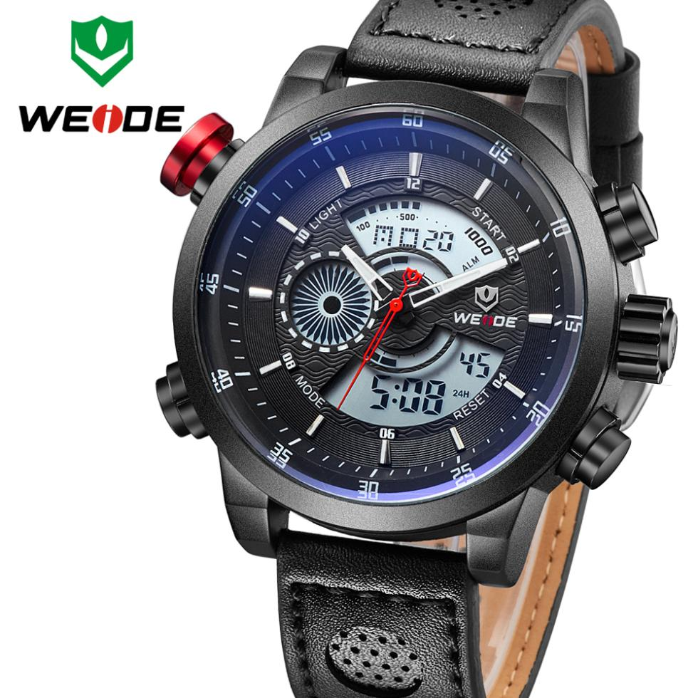 New Watches men luxury brand WEIDE Fashion Casual Sports dive LED watches quartz watch men wristwatches