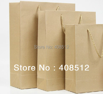 small size 20x10x28cm blank promotional packing 100% eco-friendly kraft shopping bag for clothes