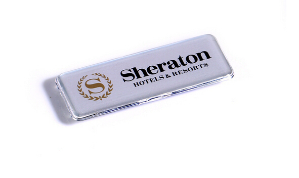 10 pcs 60*25mm Magnetic company brand student worker employee ID name card holder business identification card frame chest badge(China (Mainland))