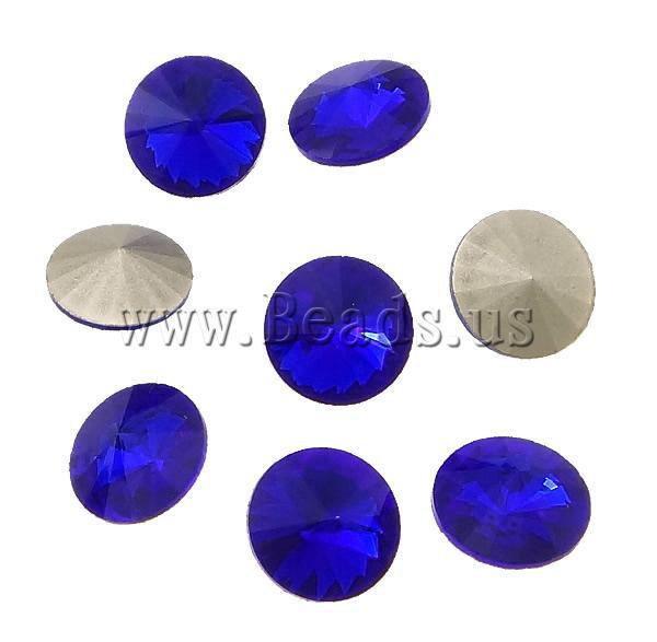 Здесь можно купить  Free shipping!!!Crystal Cabochons,Guaranteed 100%, Flat Round, real silver plated, rivoli back, Dark Sphire, 8x8x6mm  Ювелирные изделия и часы