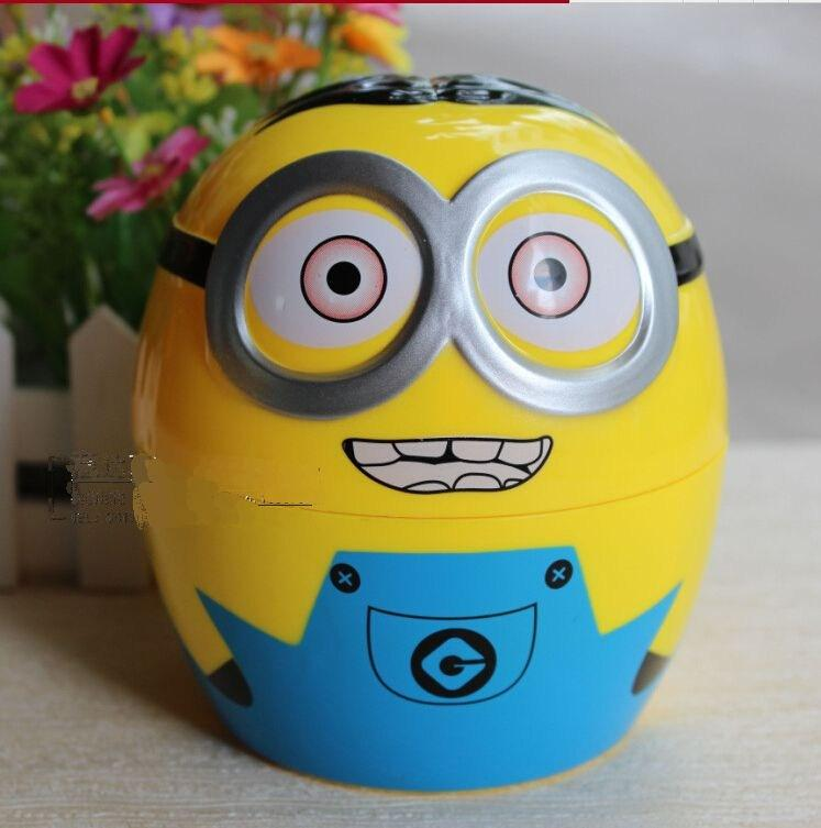 2015 Real Despicable Me Folding Table Lamp Head Desk Smiling Cartoon Minions Portable Energy-savingtable Lamps(China (Mainland))