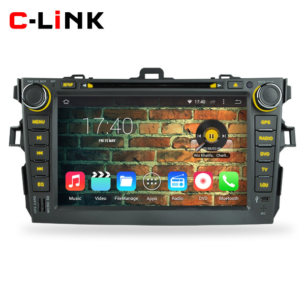 """Quad Core 8"""" 1024*600 Screen Android 4.4 Car PC Video Radio Player GPS For Toyota Corolla 2006-2011 With DVD WIFI TV 3G BT OBD2(China (Mainland))"""
