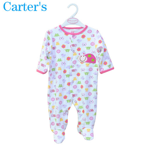 Children Pajamas Newborn Baby Rompers Cartoon Infant Cotton Long Sleeve Jumpsuit Boys Girls Autumn Winter Wear Toddlers Overalls(China (Mainland))