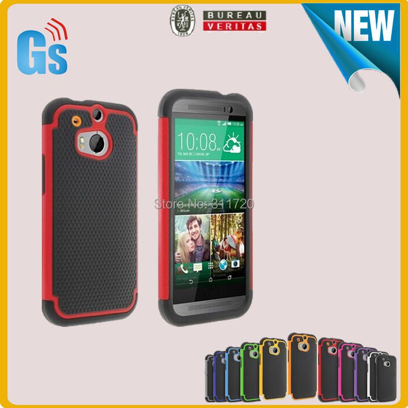 New Arrival Ali Express Trade Market Football Skin 2 in 1 Design Combo Hybrid Back Cover Case For HTC One 2 M8(China (Mainland))