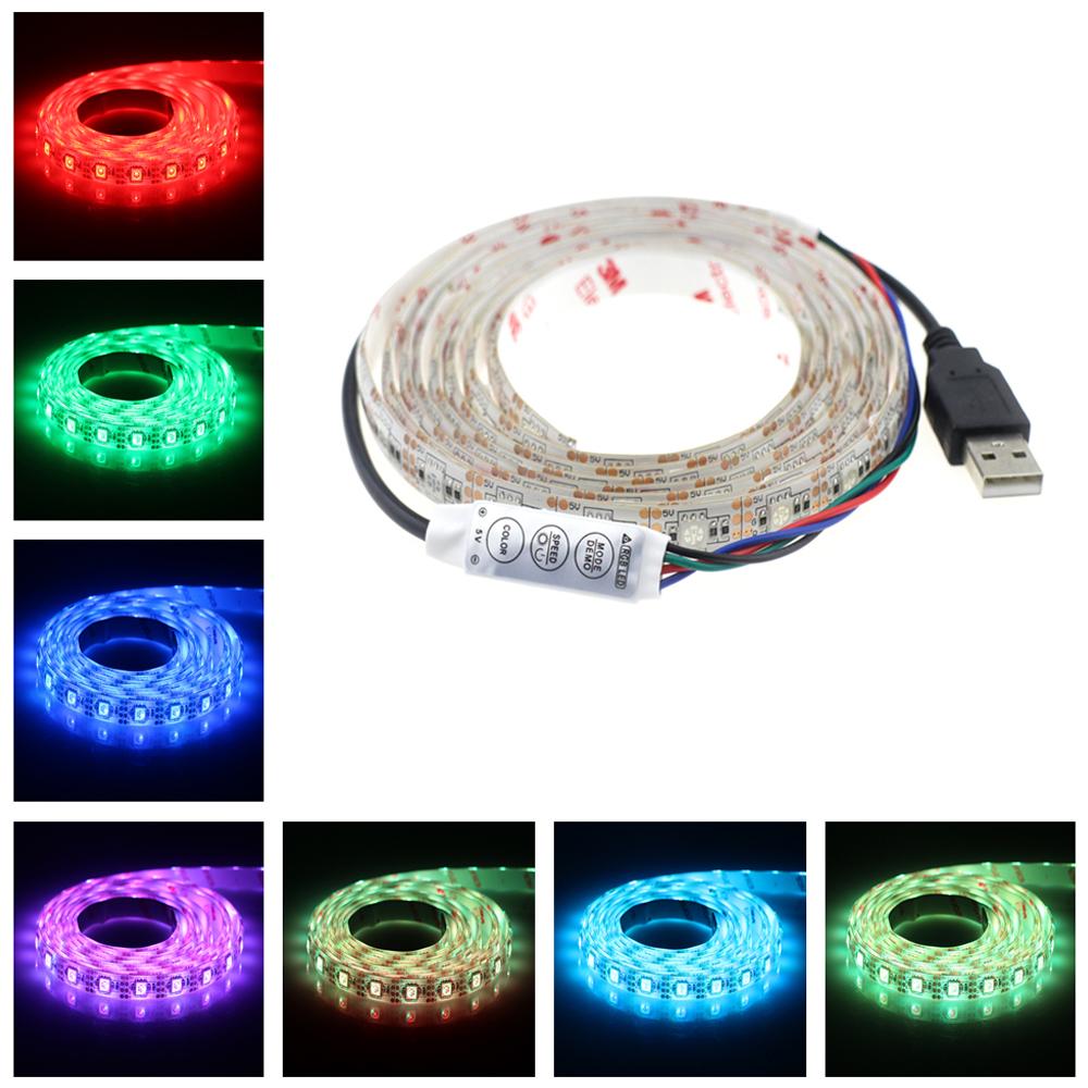 2016 2m 120led 5v usb cable led strip light lamp smd5050 christmas flexible led stripe lights tv. Black Bedroom Furniture Sets. Home Design Ideas
