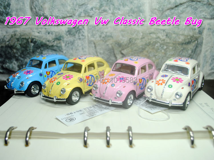 (5pcs/pack) Wholesale 1/32 Scale Diecast Car Toys Colored Edition Volkswagen Classical Beetle(1967) Metal Pull Back Car Toy(China (Mainland))