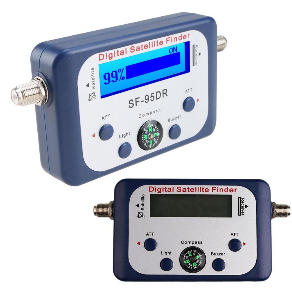 Digital Display Satellite Finder Satfinder Strength Meter Compa Digital Satellite Signal Finder Network Meter LCD Buzzle for TV(China (Mainland))