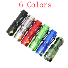 AC RU High-quality Portable Light Mini CREE 2000LM Waterproof LED Flashlight 1 Mode Zoomable LED Torch Penlight Free shipping(China (Mainland))