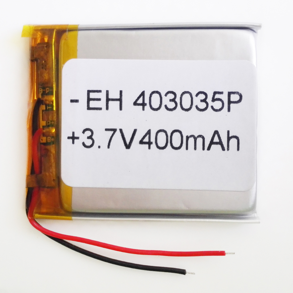 3.7V 400mAh 403035 Lithium Polymer Li-Po Rechargeable Battery  For DIY Mp3 MP4 MP5 GPS PSP bluetooth electronic part<br><br>Aliexpress