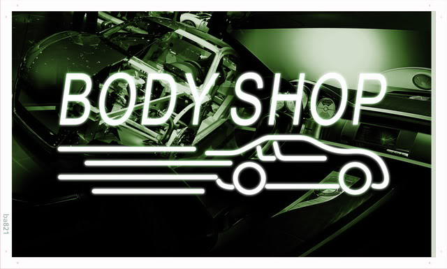 ba821 Body Shop Auto Car Display NEW Banner Shop Sign(China (Mainland))