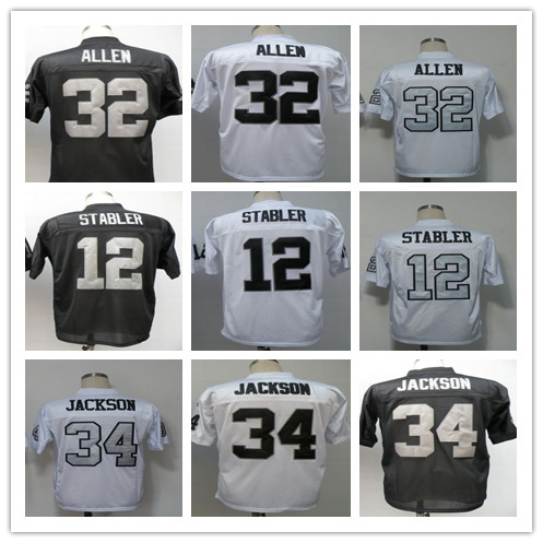Free Shipping Men's Throwback Bo Ken Marcus Stabler Allen Jackson Hot Sell size 48-56 Free Shipping 100%stiched Mix Order(China (Mainland))