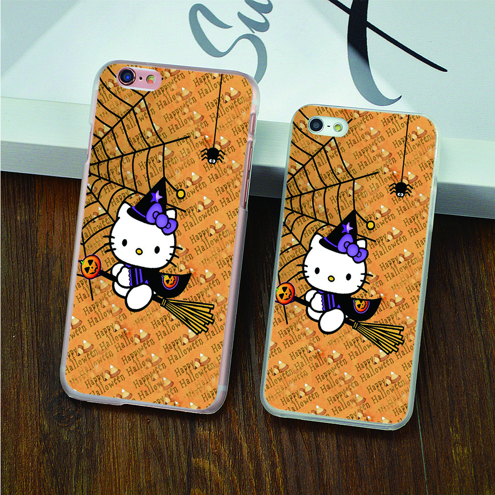 For hello kitty cosplay harry spider web hard transparent Case for iPhone 4 4s 5 5s 5c 6 6s 6 Plus 6s Plus phone cover shell(China (Mainland))
